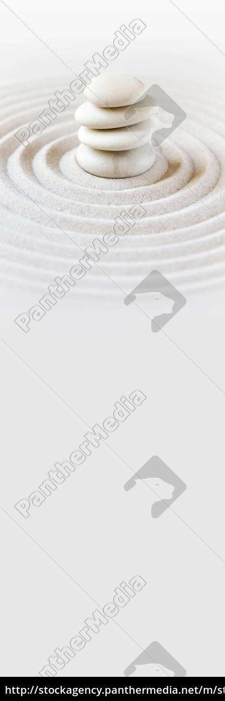 zen, japansk, have, baggrund., vandret, banner - 28973159