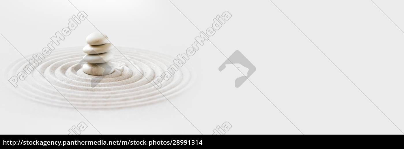 zen, japansk, have, baggrund., vandret, banner - 28991314
