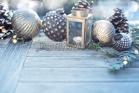 juledekoration med solv bokeh
