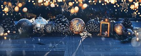 juledekoration i morke