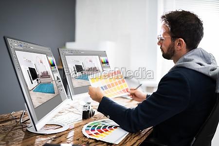 grafisk kunstner designer tegning skitse