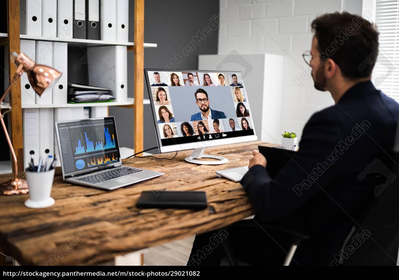 online, video, konference, interview, møde - 29021082