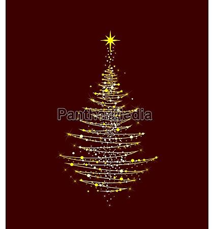 juletrae skinnende gylden