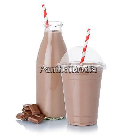 chokolade maelk ryste milkshake i en