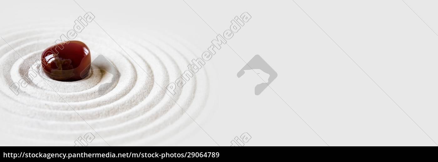 zen, japansk, have, baggrund., vandret, banner - 29064789