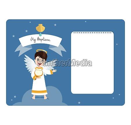 angel spiller harpen dab vandret invitation