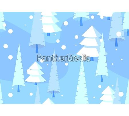 abstrakt somlos monster vinter skov baggrund
