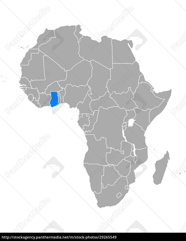map, of, ghana, in, africa - 29265549