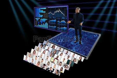 webinar opkald til virtuel videokonference