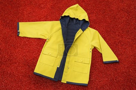 yellow, clothing, protection, dress, hood, jacket - B359062404