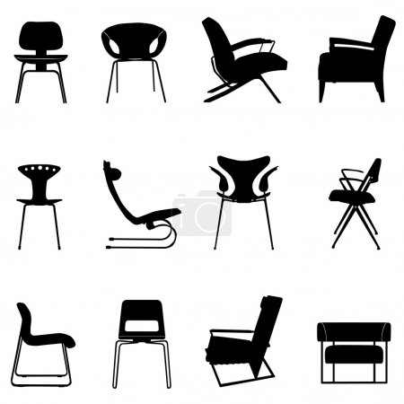 group, chairs, vector, background, object, element - B10438244