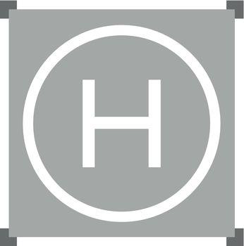 helipad, sign, symbol, plate, platform, pad - D36996794