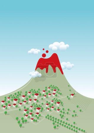 grøn, rød, vektor, baggrunde, på, illustration - B22814360