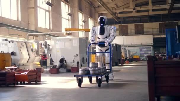 white computer artificial business cart metal