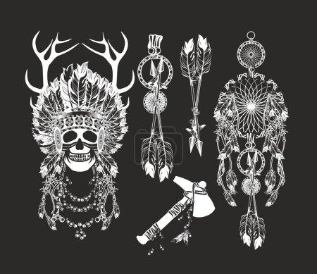 vector, illustration, ethnicity, abstract, head, old - B95065874