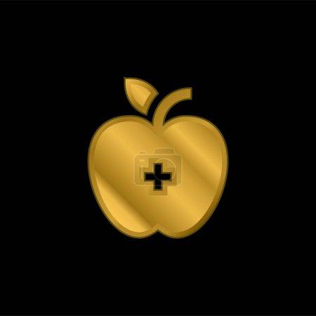 vector, metal, gold, love, health, apple - B470790444